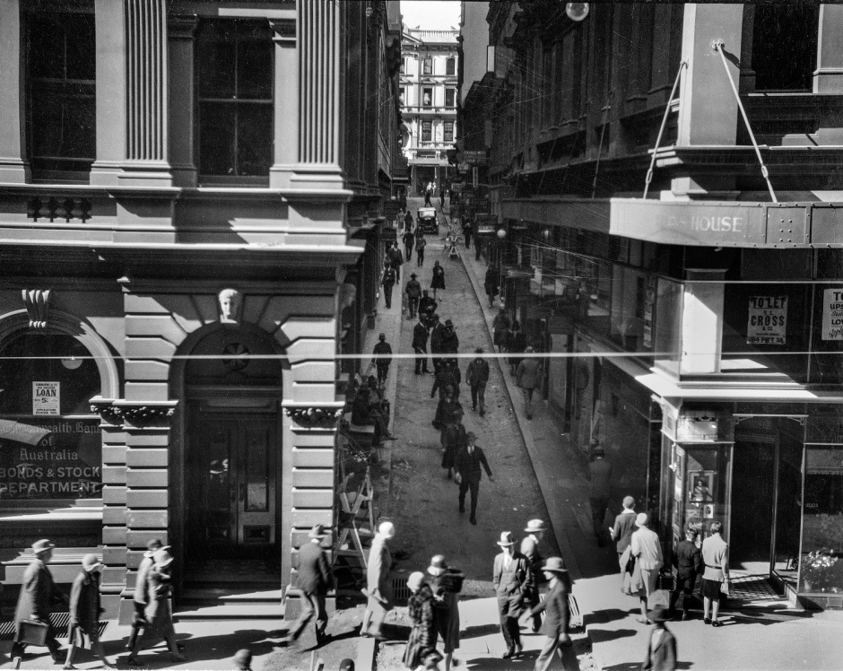 Rowe Street, photographer unknown, 1929. City of Sydney Archives.jpg